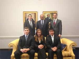 Boris Dyatkin (top right) with Representative Chaka Fattah (top center).