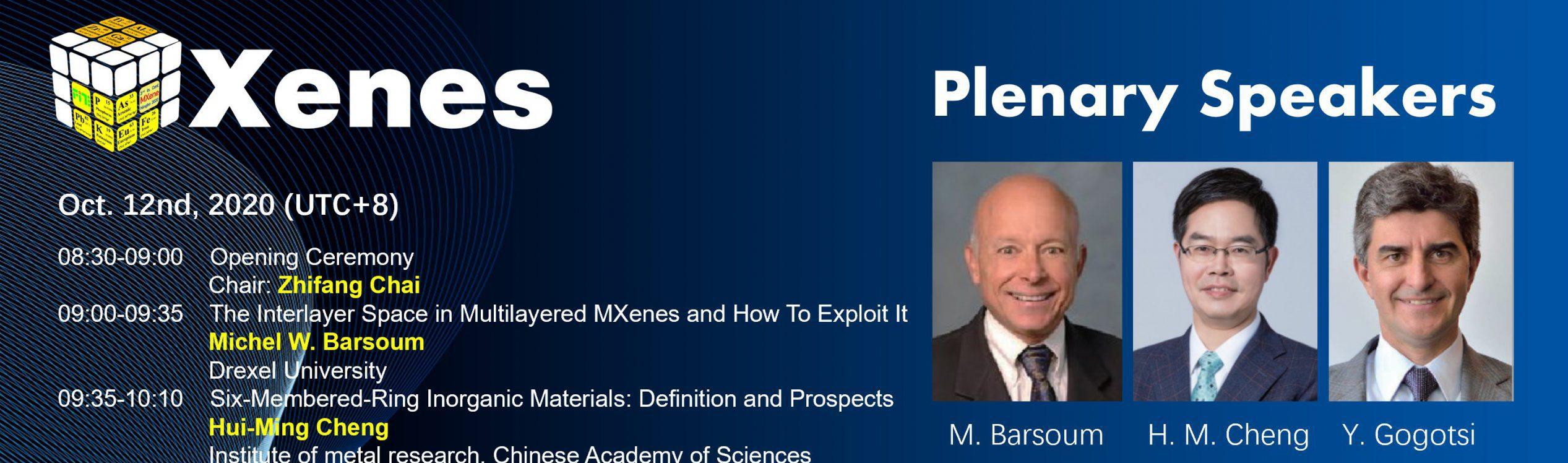 Prof. Gogotsi and Prof. Barsoum gave Plenary talks in the MXene 2020 conference