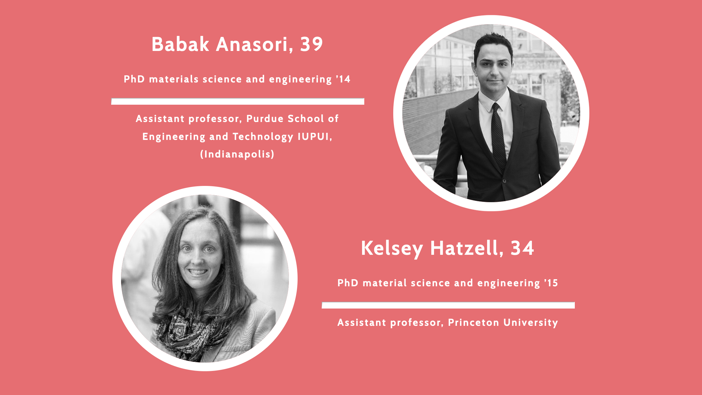 Our Alumni, Kelsey Hatzell and Babak Anasori, Were Recognized Among the Drexel 40 Under 40 Program This Year