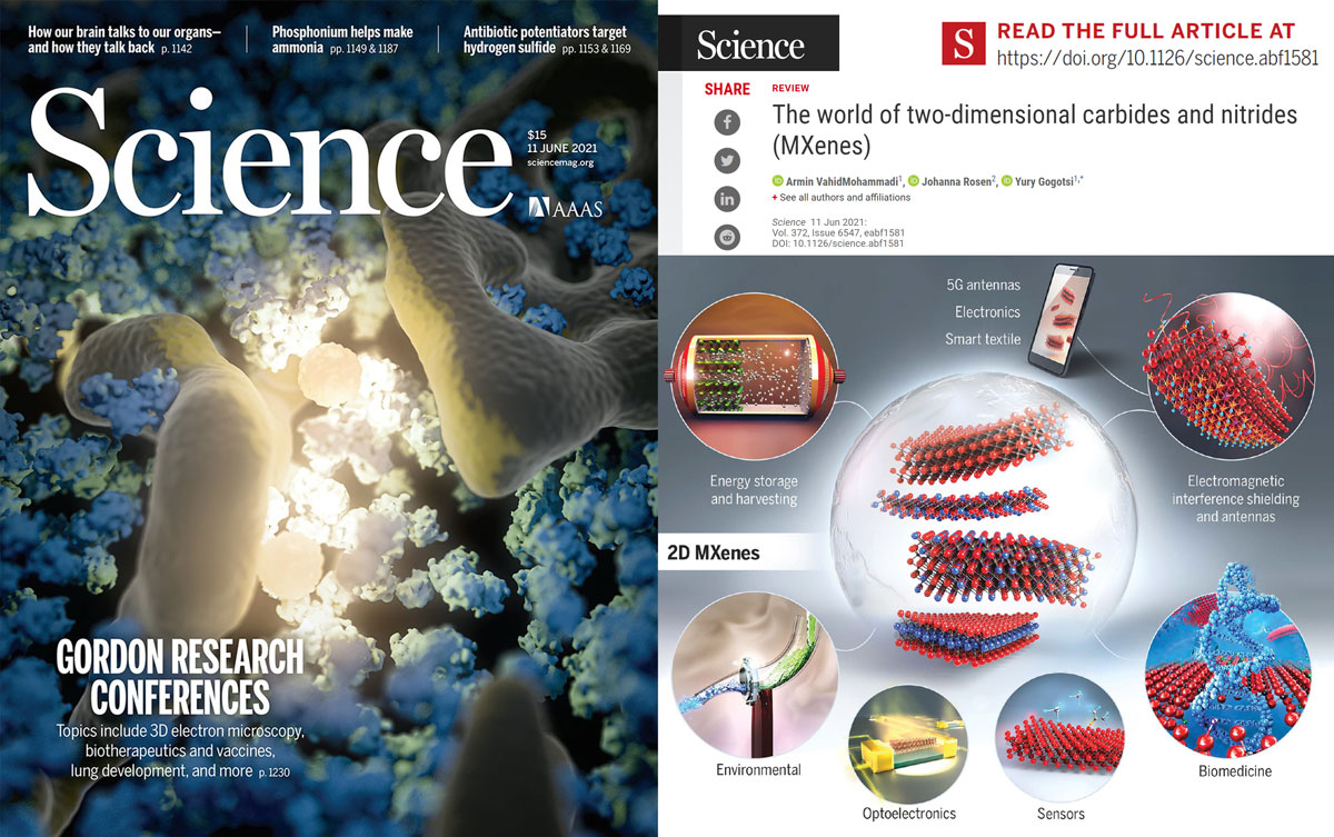 Our Review Article on MXenes Published in Science Magazine