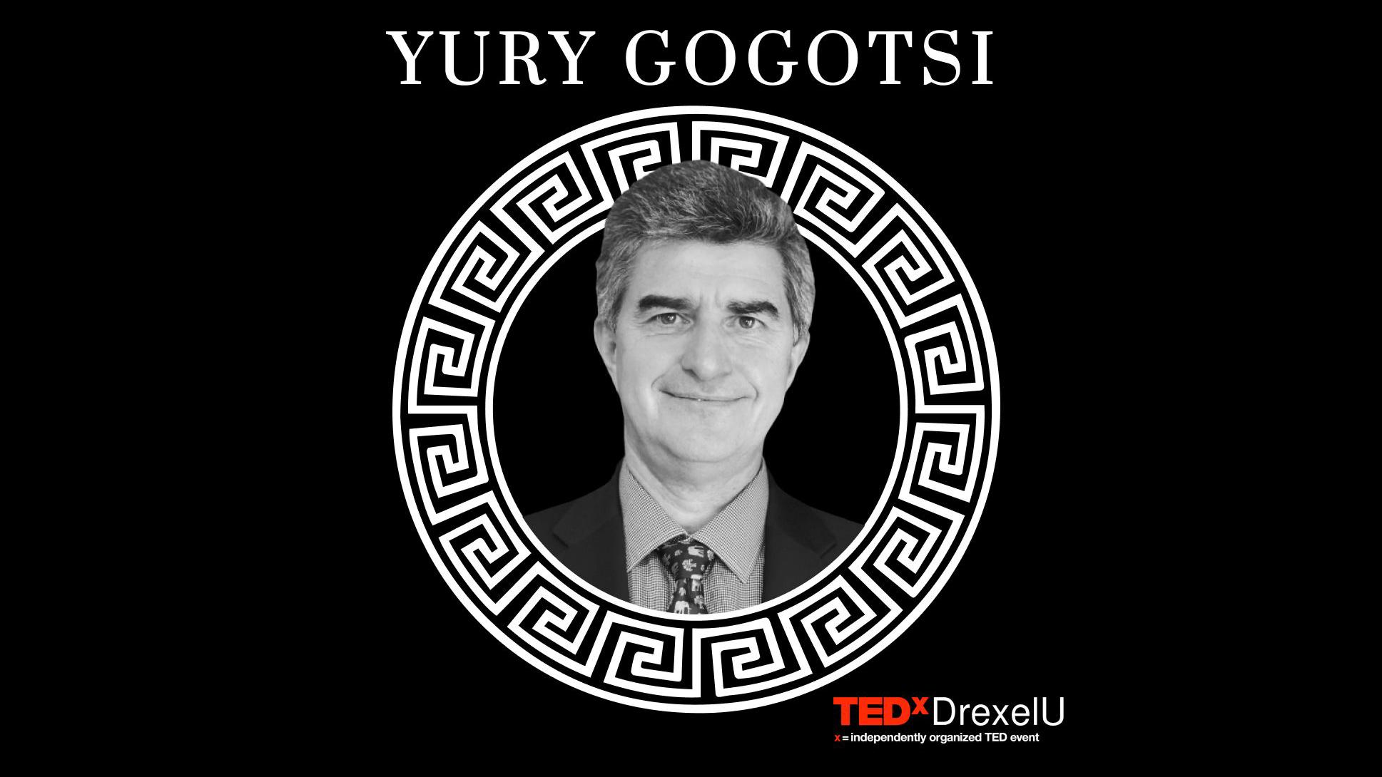 Professor Yury Gogotsi Giving TED Talk at TEDxDrexelU Conference