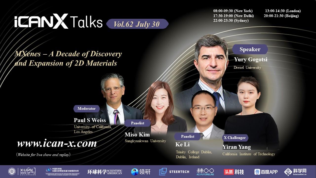 Professor Yury Gogotsi Will Be Giving ICANX Talk