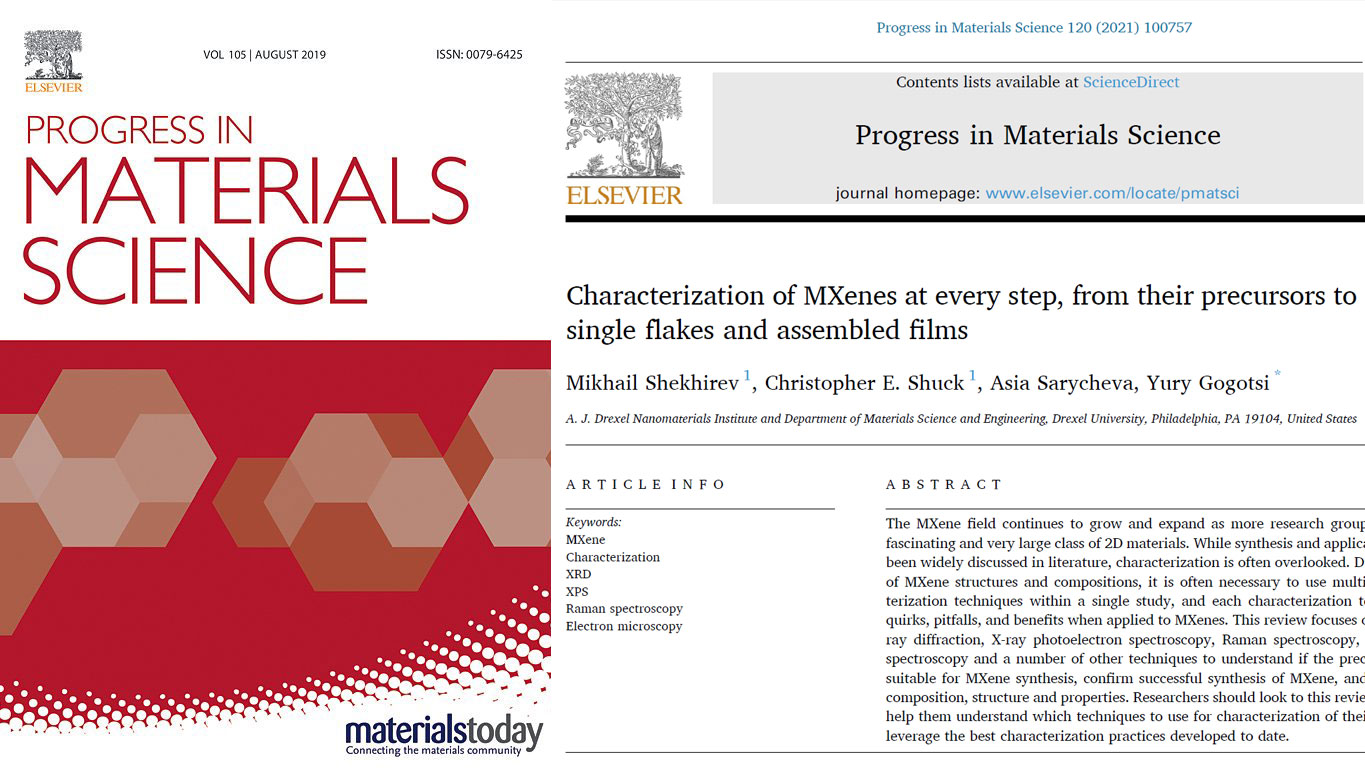 Final Version of Our review on Characterization of MXenes is Published in Progress in Materials Science