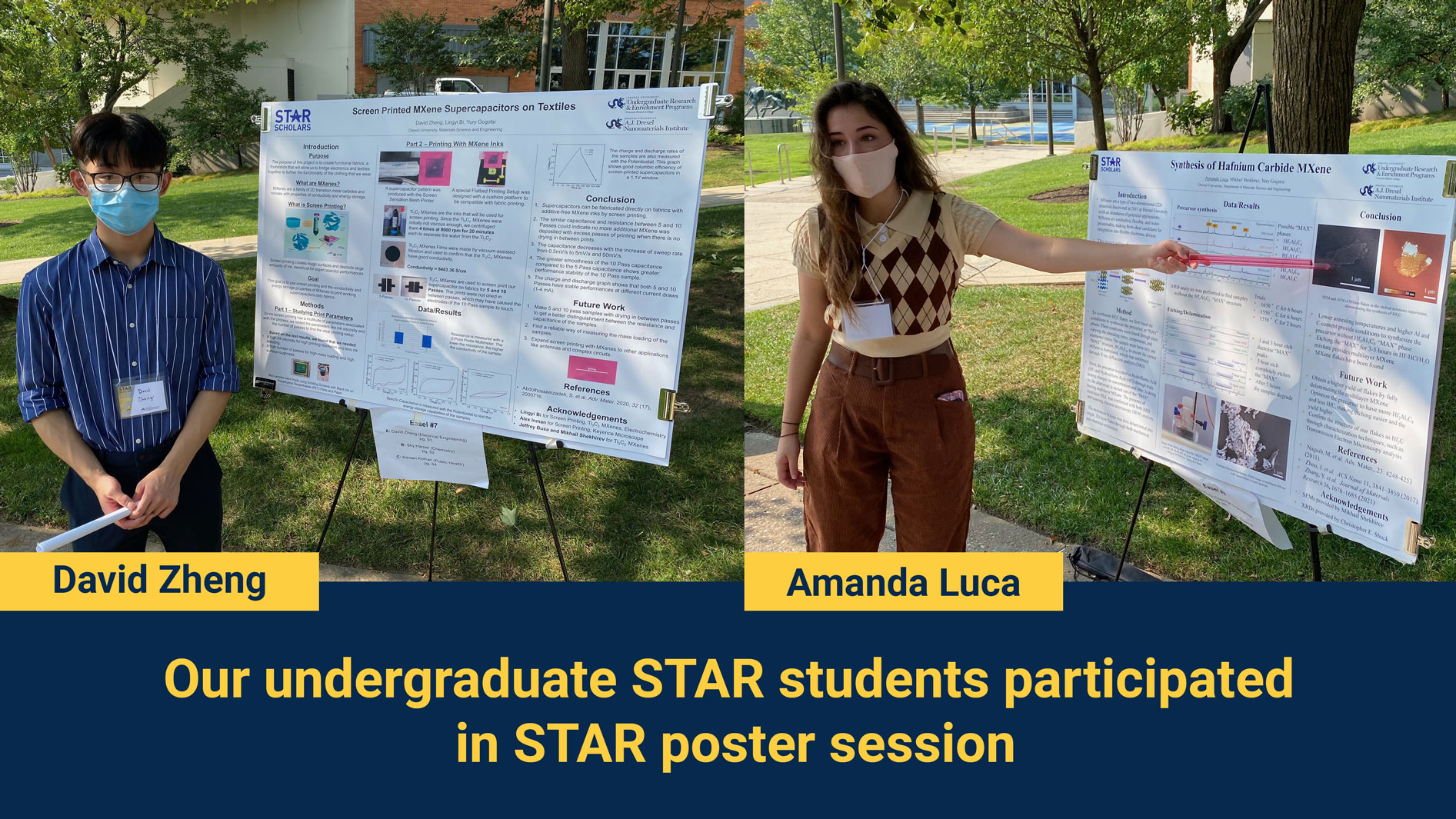 Our Undergraduate STAR Students Participated in STAR Poster Session