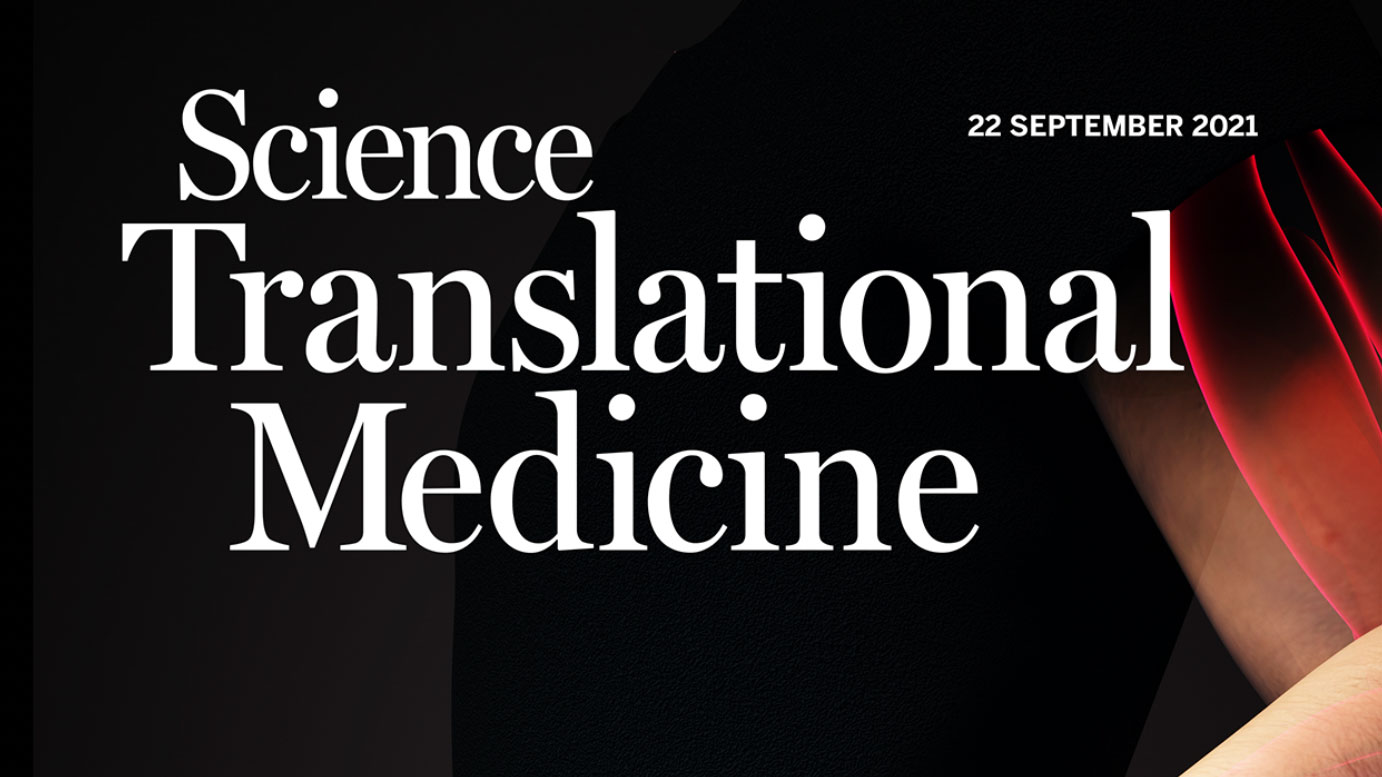 Cover Article in Science Translational Medicine