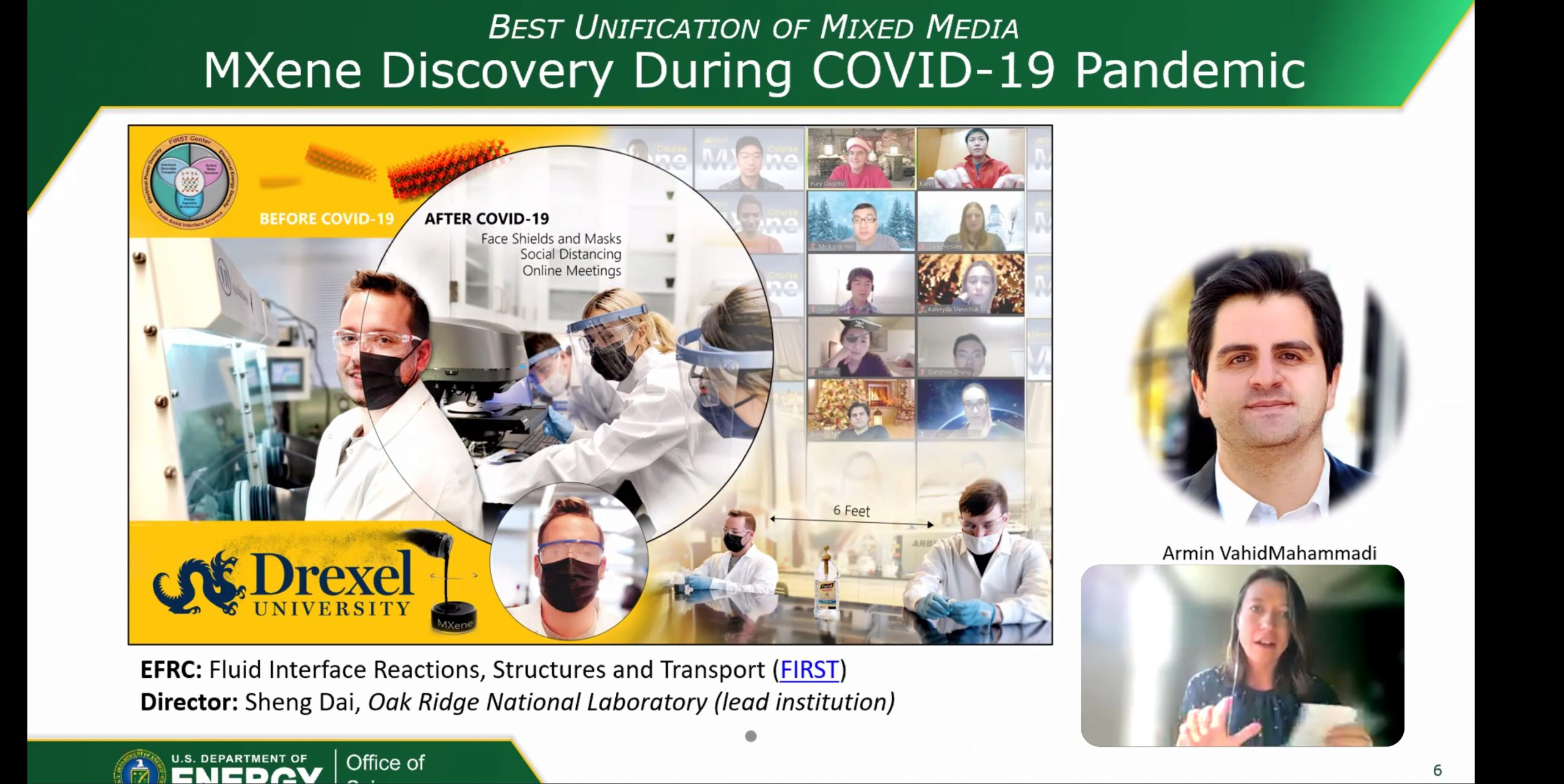 DNI Entry at The People's Choice Award for the Science in the Time of Covid Graphic Art Contest Was Recognized as One of the Winners